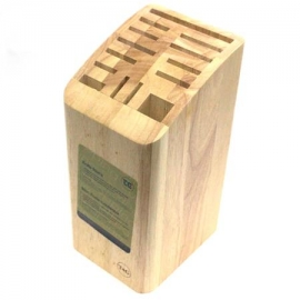T&G Knife Block for 12 Knives Cleaver and Scissors or Sharpening Steel
