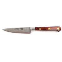 "Paring Knife - 4""/10cm Stainless Steel Red Stamina Handle"