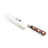 "Santoku - 7""/17cm Carbon Steel Red Stamina Handle"